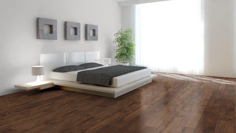 Laminat Kronotex Exquisit Nostalgie Teak Produktbild Schlafzimmer - Urban zoom