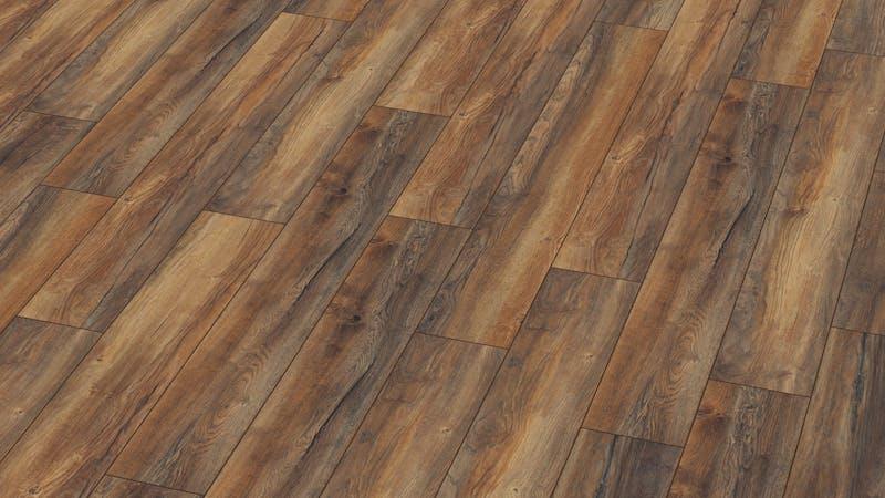 Laminat Kronotex Robusto Habour Oak Produktbild Musterfläche von oben grade zoom
