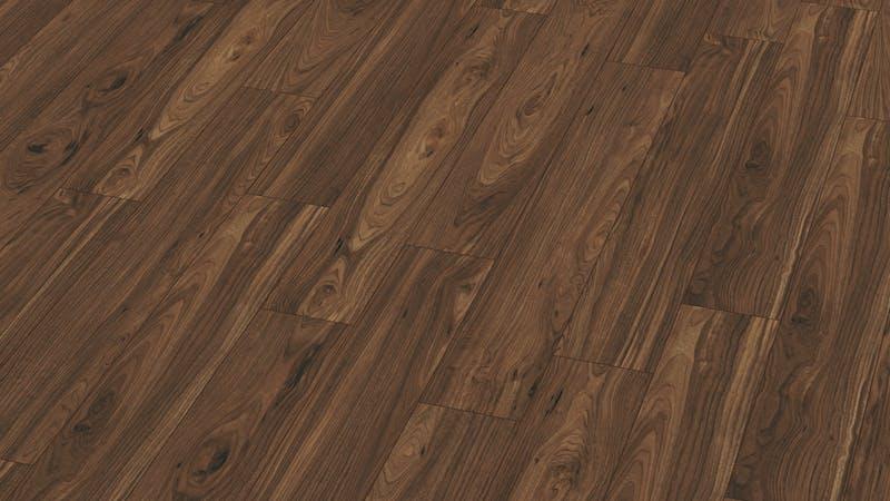 Laminat Kronotex Exquisit Nussbaum Toskana Produktbild Musterfläche von oben grade zoom