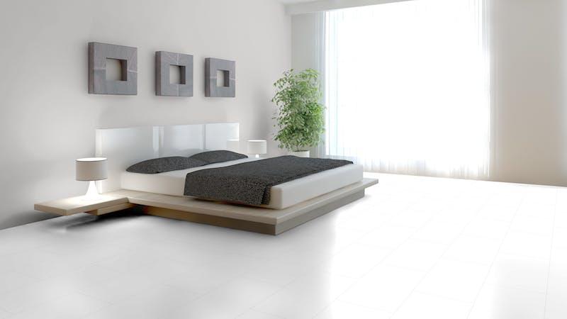 Laminat Falquon Glamour White Produktbild Schlafzimmer - Urban zoom