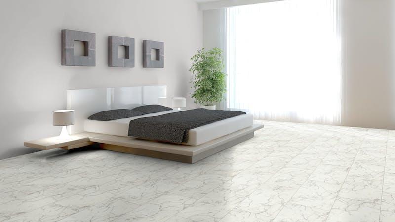 Laminat Falquon Glamour Carrara Marmor Produktbild Schlafzimmer - Urban zoom