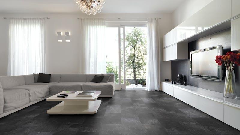 Laminat Classen Visiogrande Ölschiefer Produktbild Wohnzimmer - Urban mit Wohnwand zoom