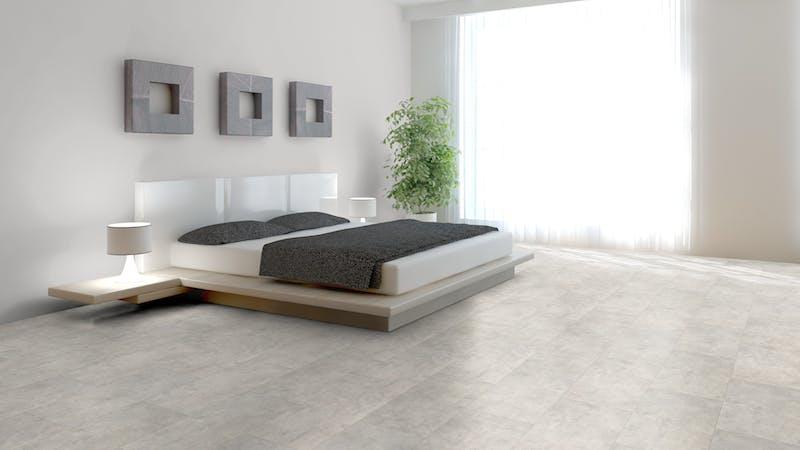 Laminat Classen Visiogrande Sichtestrich Weiß Produktbild Schlafzimmer - Urban zoom