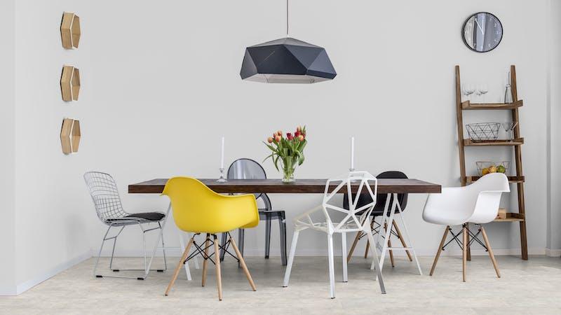 Laminat Classen Visiogrande Sichtestrich Weiß Produktbild Küche & Esszimmer - Modern mit Treppe zoom