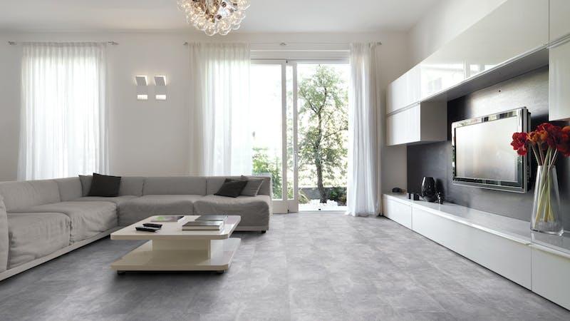 Laminat Classen Visiogrande Sichtestrich Hell Produktbild Wohnzimmer - Urban mit Wohnwand zoom