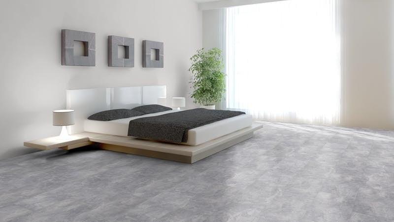 Laminat Classen Visiogrande Sichtestrich Hell Produktbild Schlafzimmer - Urban zoom