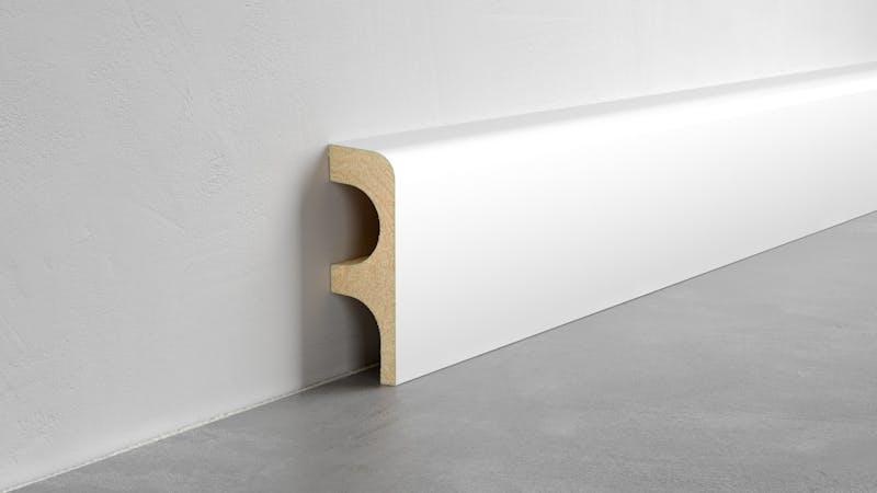 Heizrohrabdeckleiste - Weiß - Höhe: 85 mm Produktbild