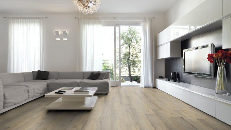 Klick-Vinyl BoDomo Exquisit Sandeiche Produktbild Wohnzimmer - Urban mit Wohnwand zoom