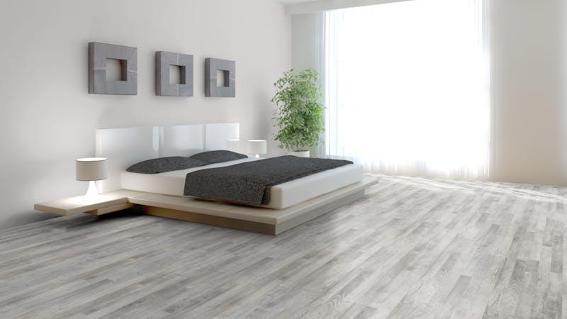 Laminat BoDomo Exquisit Pinie Weiß Produktbild Schlafzimmer - Urban zoom