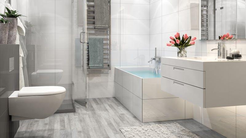 Laminat BoDomo Exquisit Pinie Weiß Produktbild Badezimmer - Klassisch zoom