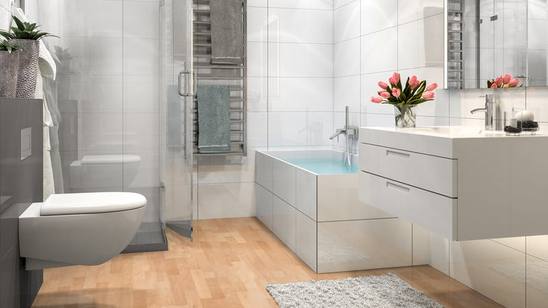 Laminat Kronotex Dynamic Buche Produktbild Badezimmer - Klassisch zoom