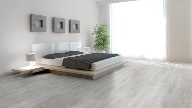 Laminat BoDomo Klassik Steineiche Produktbild Schlafzimmer - Urban zoom