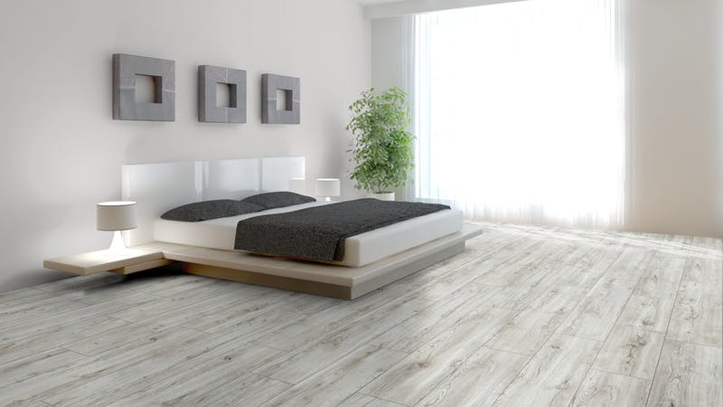 Laminat Kronotex Exquisit Plus Montmelo Eiche Creme Produktbild Schlafzimmer - Urban zoom