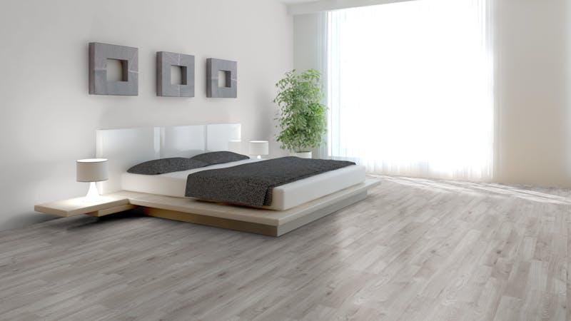 Laminat BoDomo Klassik Winter Eiche Grau Produktbild Schlafzimmer - Urban zoom