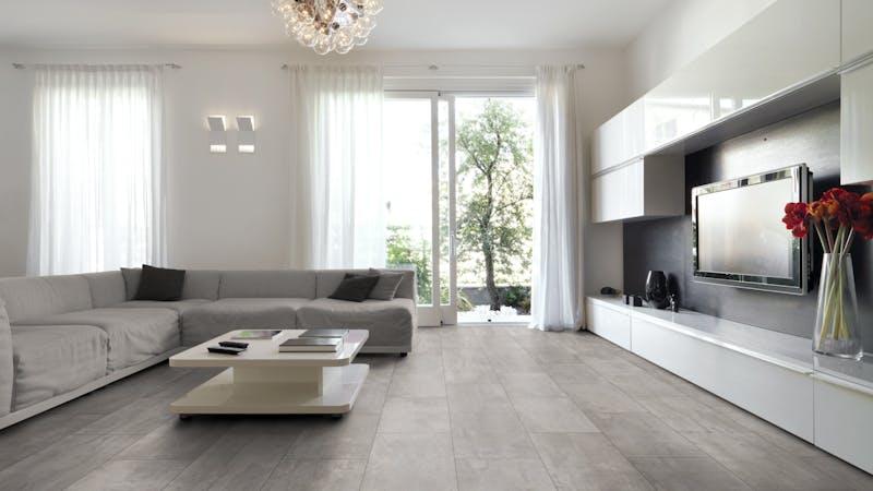 Laminat BoDomo Premium Crosstown Traffic Produktbild Wohnzimmer - Urban mit Wohnwand zoom
