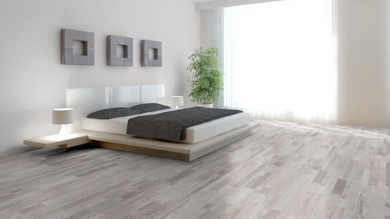 Laminat BoDomo Exquisit Silverside Driftwood Produktbild Schlafzimmer - Urban zoom