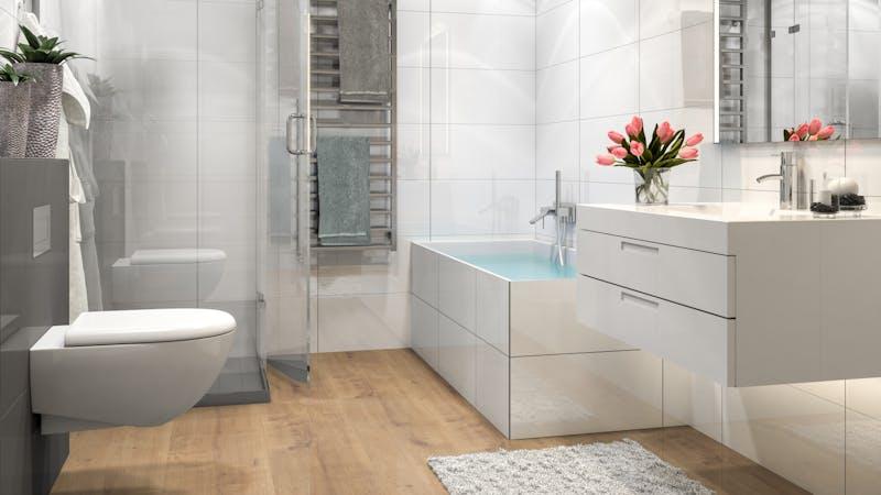 Laminat BoDomo Premium Schlossdiele Natur Produktbild Badezimmer - Klassisch zoom