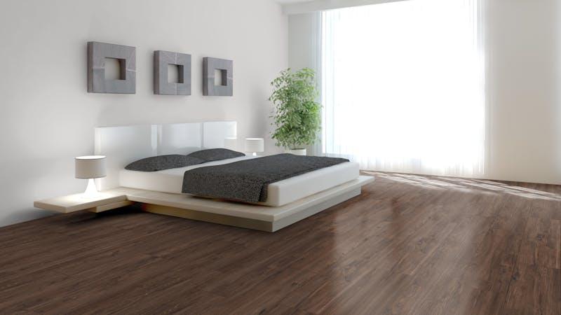 Laminat Kronotex Exquisit Plus Nussbaum Mataro Produktbild Schlafzimmer - Urban zoom