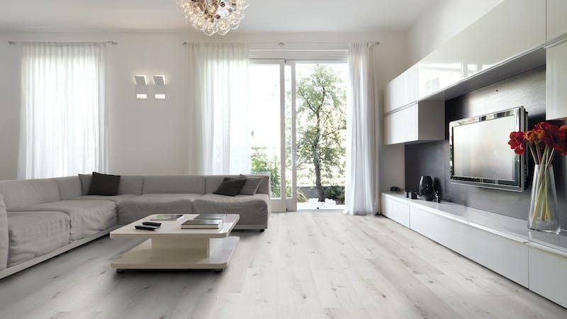 Klick-Vinyl BoDomo Premium Atlas Oak Produktbild Wohnzimmer - Urban mit Wohnwand zoom