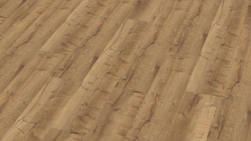 Klick-Vinyl BoDomo Premium Bourbon Oak Produktbild Musterfläche von oben grade zoom