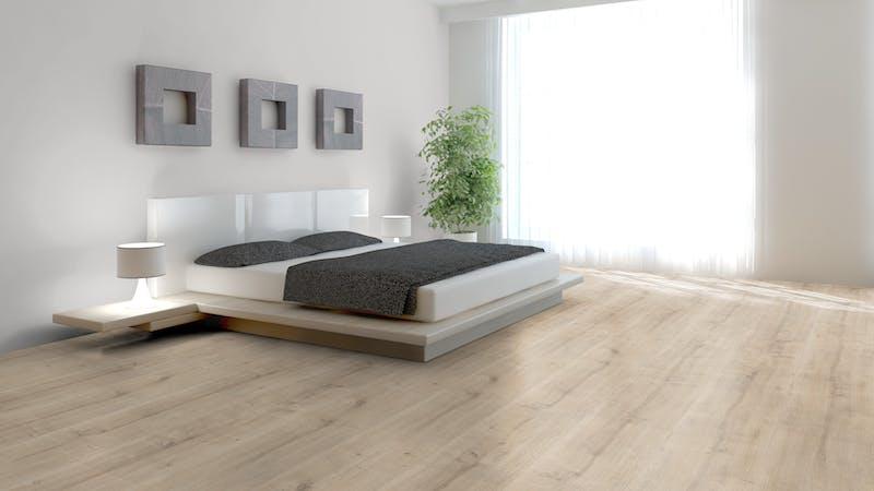 Laminat BoDomo Premium Schlossdiele Creme Produktbild Schlafzimmer - Urban zoom