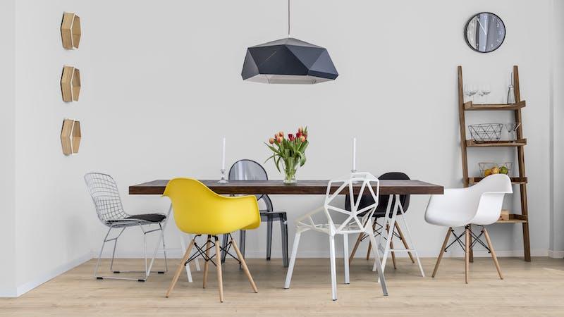 Laminat BoDomo Premium Schlossdiele Creme Produktbild Küche & Esszimmer - Modern mit Treppe zoom