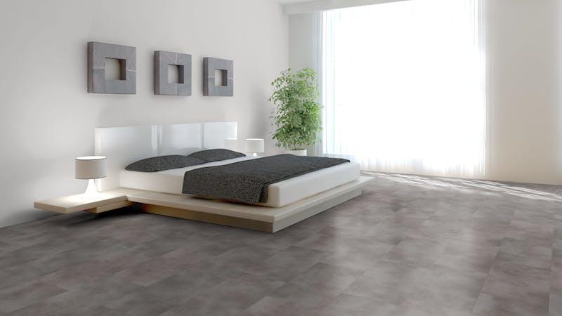 Klick-Vinyl BoDomo Exquisit Puro Grey Produktbild Schlafzimmer - Urban zoom