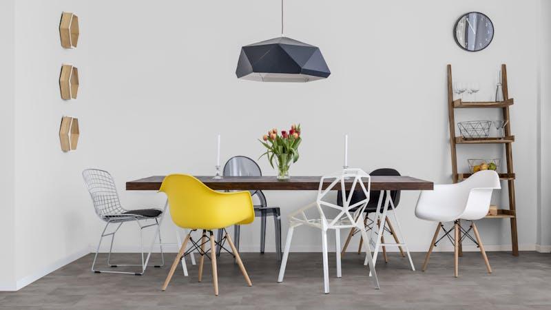 Klick-Vinyl BoDomo Exquisit Puro Grey Produktbild Küche & Esszimmer - Modern mit Treppe zoom