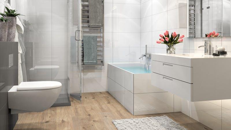 Laminat BoDomo Klassik Tirol Eiche Produktbild Badezimmer - Klassisch zoom
