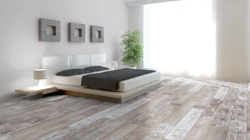 Laminat Kronoflooring MyArt Shack Pine Produktbild Schlafzimmer - Urban zoom