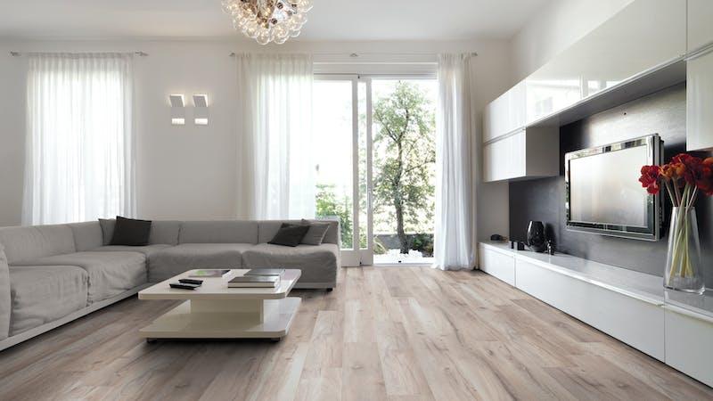 Laminat Kronoflooring MyDream Wilderness Oak Produktbild Wohnzimmer - Urban mit Wohnwand zoom