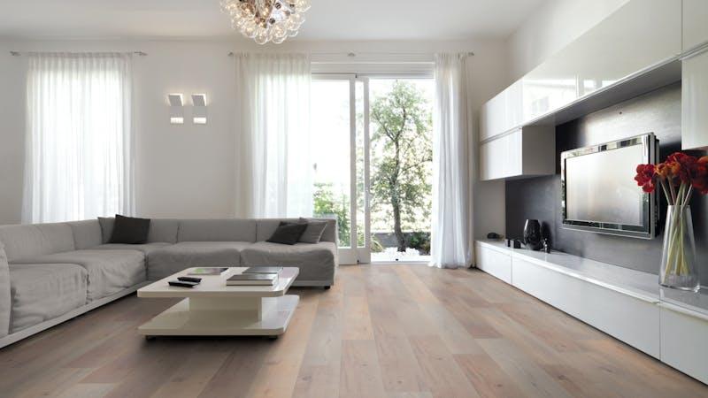 Laminat Kronoflooring MyDream Bandito Oak Produktbild Wohnzimmer - Urban mit Wohnwand zoom