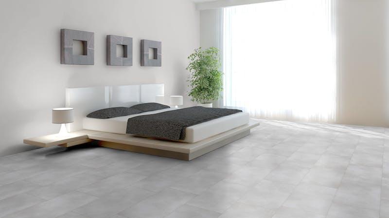 Klick-Vinyl BoDomo Exquisit Puro White Produktbild Schlafzimmer - Urban zoom
