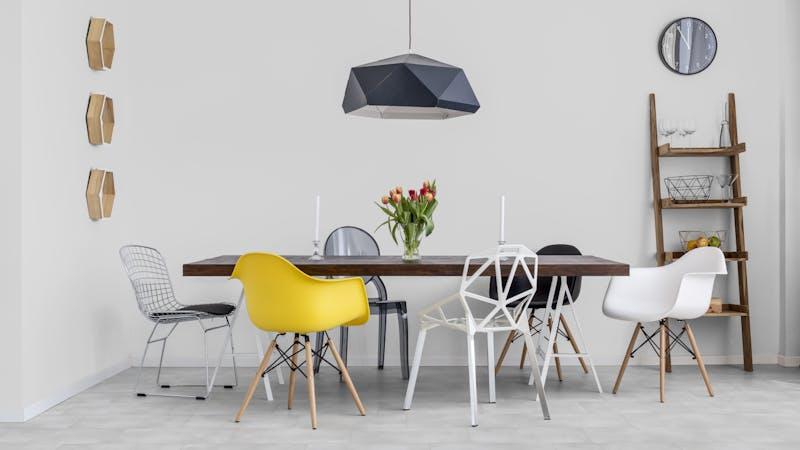 Klick-Vinyl BoDomo Exquisit Puro White Produktbild Küche & Esszimmer - Modern mit Treppe zoom