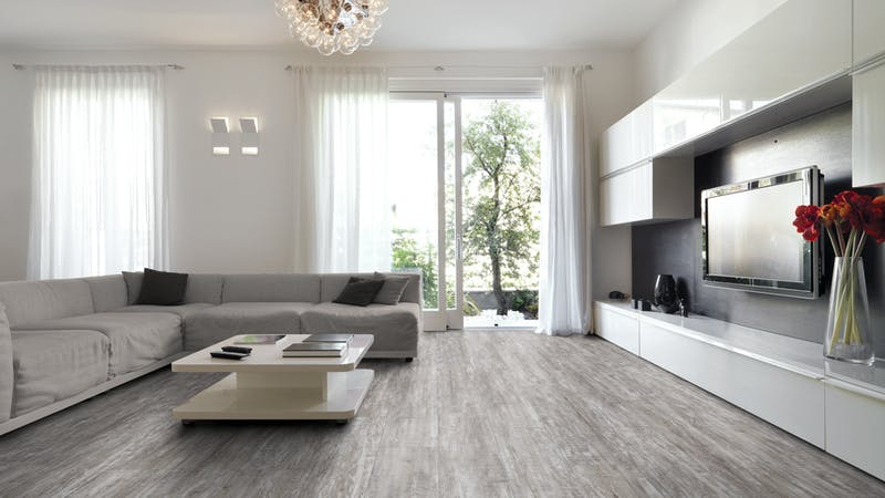 Laminat BoDomo Exquisit Antik Pine Arctic Produktbild Wohnzimmer - Urban mit Wohnwand zoom