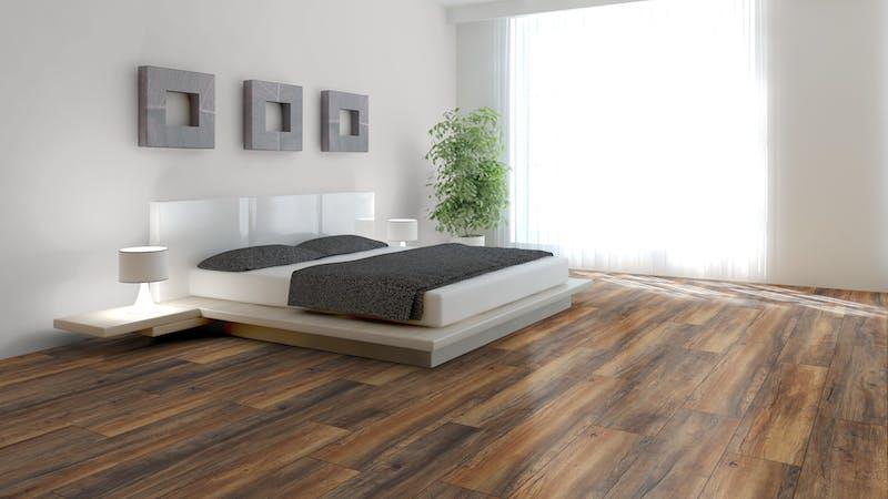 Laminat BoDomo Premium Port Eiche Nature Produktbild Schlafzimmer - Urban zoom