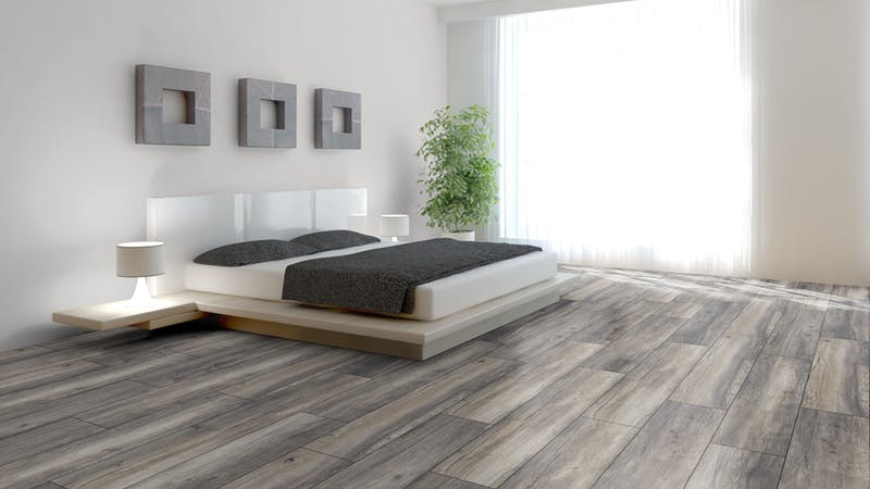 Laminat BoDomo Premium Port Eiche Grey Produktbild Schlafzimmer - Urban zoom