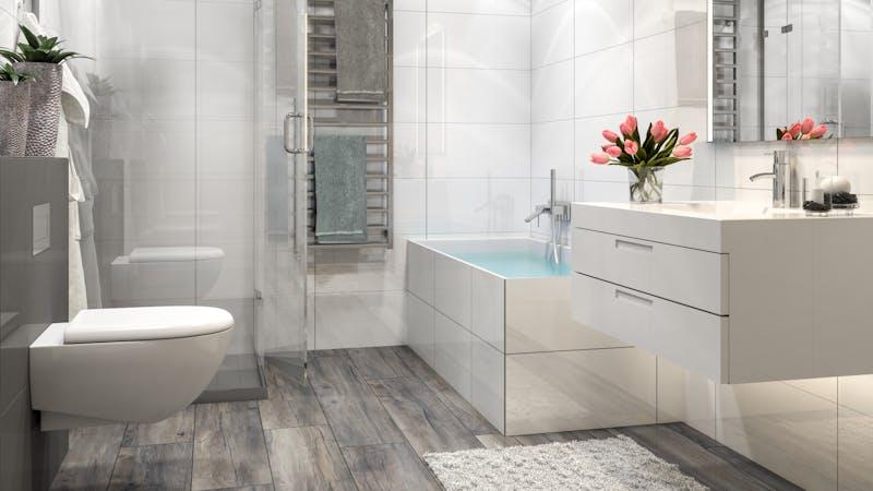 Laminat BoDomo Premium Port Eiche Grey Produktbild Badezimmer - Klassisch zoom