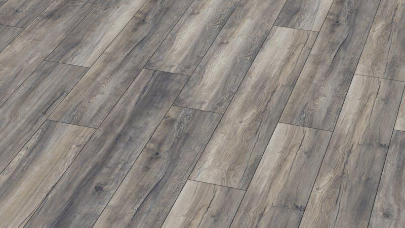 Laminat BoDomo Premium Port Eiche Grey Produktbild Musterfläche von oben grade zoom