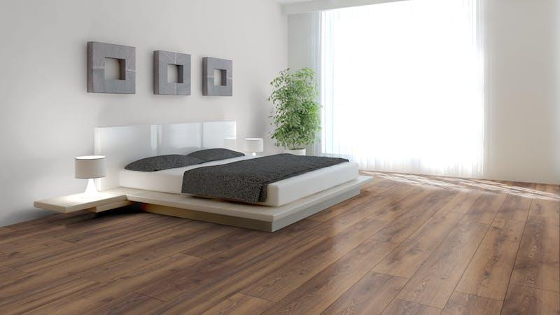 Laminat Kronotex Mammut Plus Berg Eiche Braun Produktbild Schlafzimmer - Urban zoom