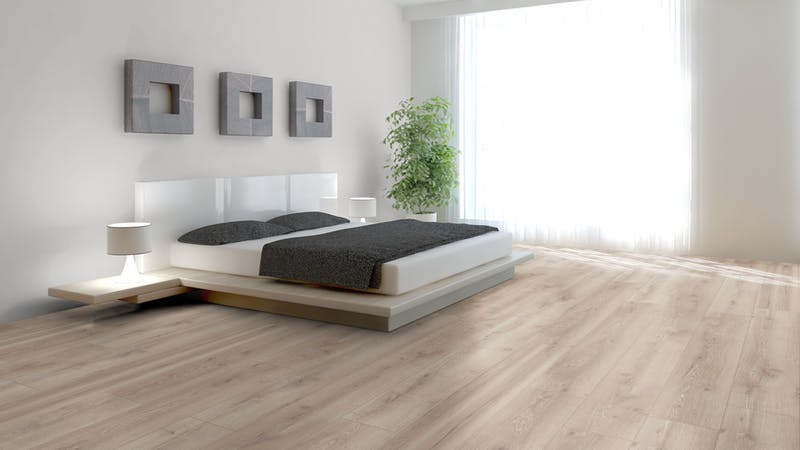 Laminat Kronotex Mammut Plus Berg Eiche Beige Produktbild Schlafzimmer - Urban zoom