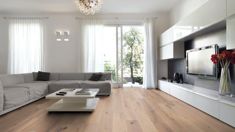 Parkett BoDomo Premium Elba Produktbild Wohnzimmer - Urban mit Wohnwand zoom