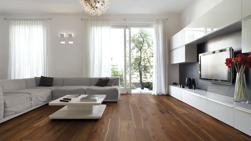 Parkett BoDomo Premium Neapel Produktbild Wohnzimmer - Urban mit Wohnwand zoom