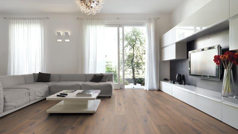 Parkett BoDomo Premium Florenz Produktbild Wohnzimmer - Urban mit Wohnwand zoom