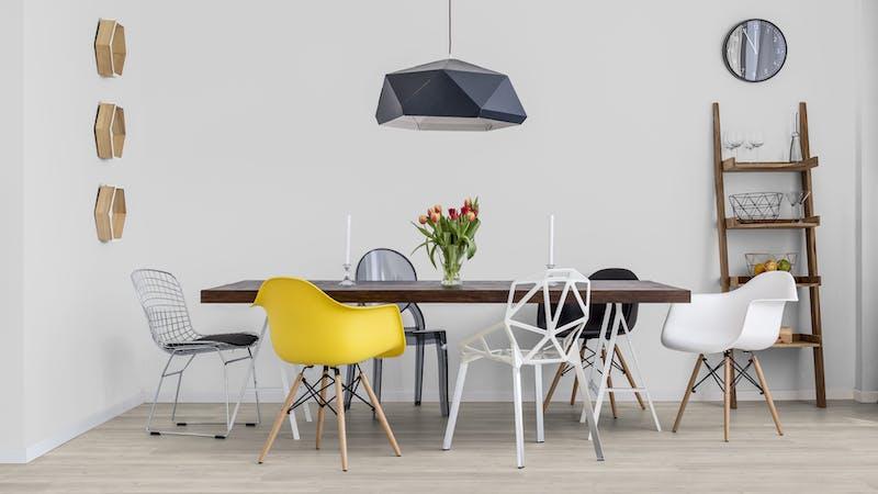 Rigid-Vinyl mit integrierter Dämmung BoDomo Klassik Eiche Sevilla Produktbild Küche & Esszimmer - Modern mit Treppe zoom
