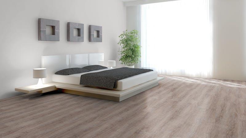 Rigid-Vinyl mit integrierter Dämmung BoDomo Klassik Eiche Malaga Produktbild Schlafzimmer - Urban zoom