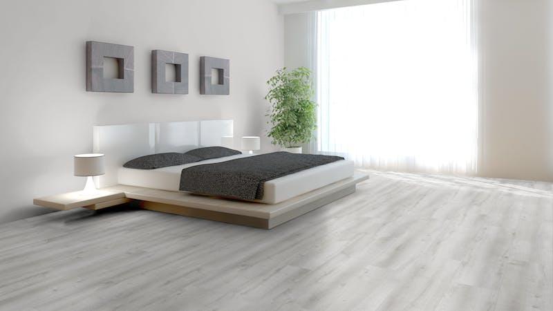 Laminat BoDomo Premium Castle Oak White Produktbild Schlafzimmer - Urban zoom