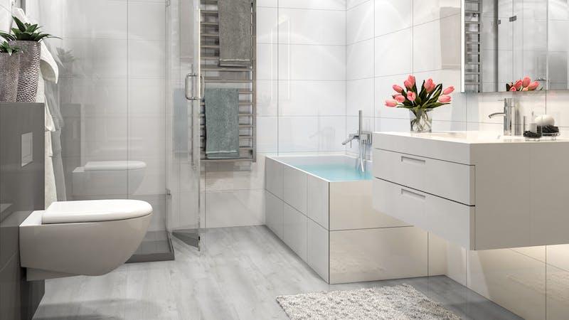 Laminat BoDomo Premium Castle Oak White Produktbild Badezimmer - Klassisch zoom