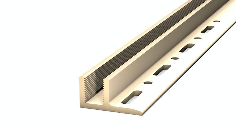 Basisprofil PVC für Übergangs- und Abschlussprofil - Beige - 14,8 mm x 100 cm Produktbild