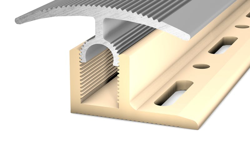 Basisprofil PVC für Übergangs- und Abschlussprofil - Beige - 14,8 mm x 100 cm Produktbild Schlafzimmer - Urban zoom